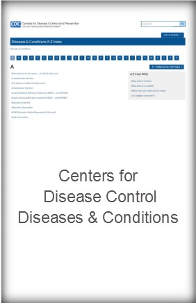 Centers for Disease Control Diseases and Conditions
